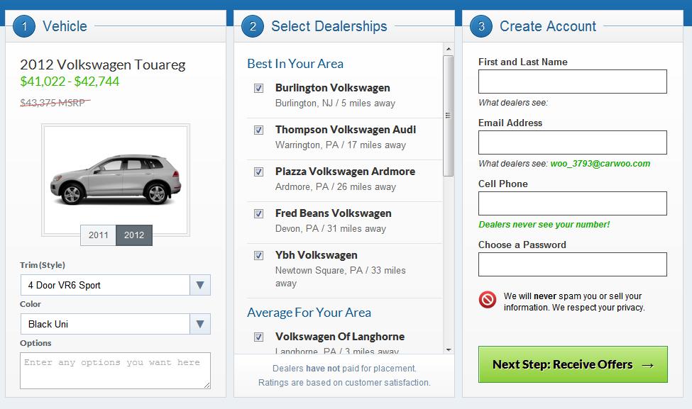 car negotiating on autopilot a carwoo review. Black Bedroom Furniture Sets. Home Design Ideas