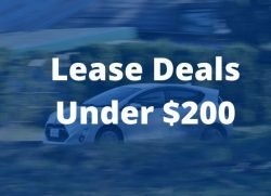 Best lease deals under 200 per month