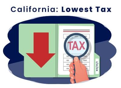 California Lowest Tax