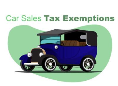 Car Sales Tax Exemptions
