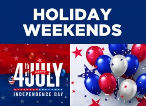 Holiday Weekends and Dealership Events