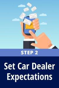 Set car dealer expectations