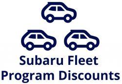 Subaru Fleet Discounts