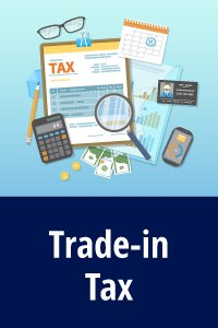 Trade-in sales tax calculation