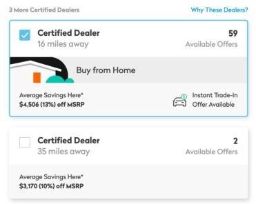 TrueCar Buy From Home certified dealer badge