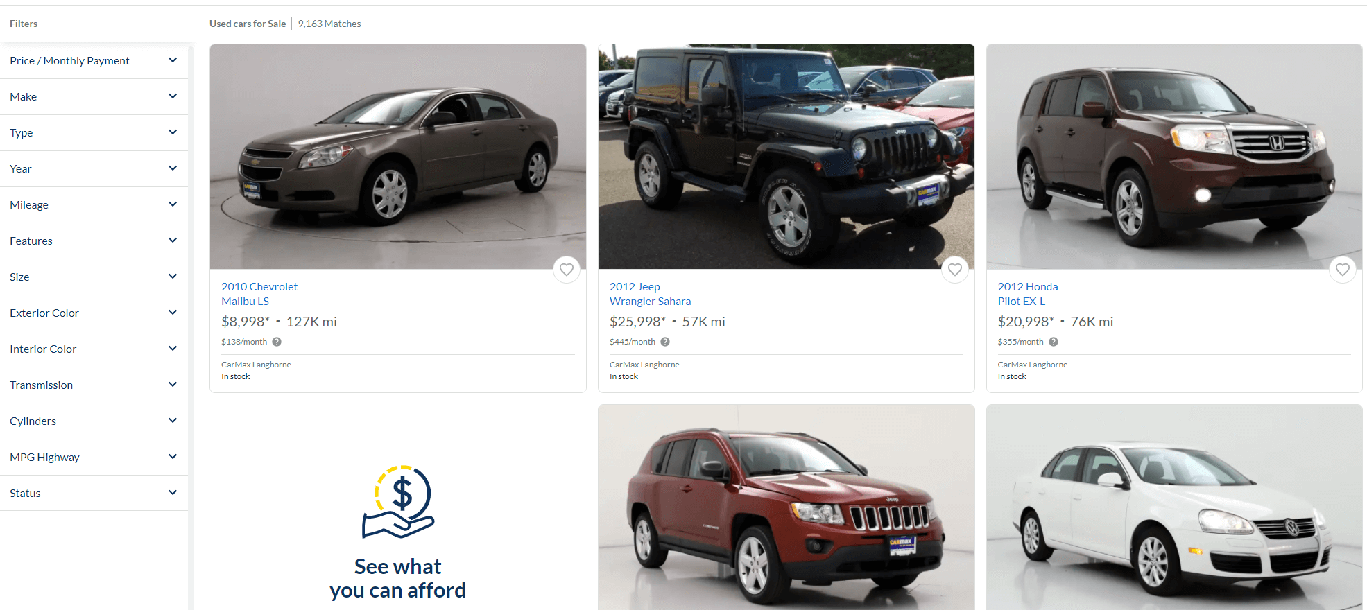 carmax buy