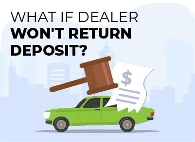 dealer wont return deposit