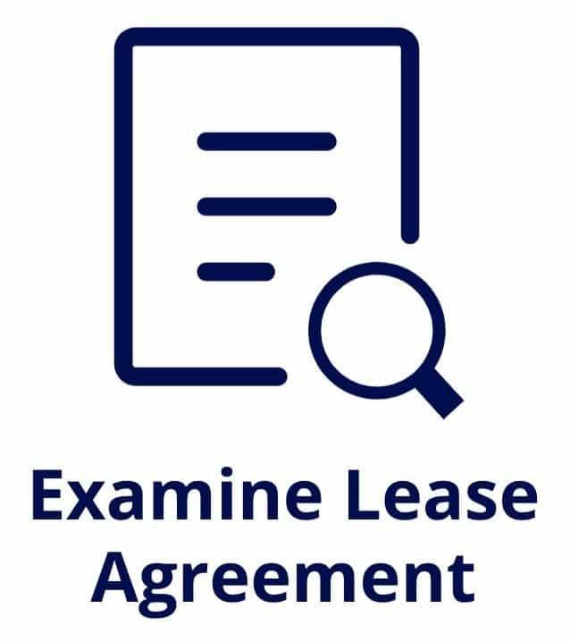 examine lease agreement