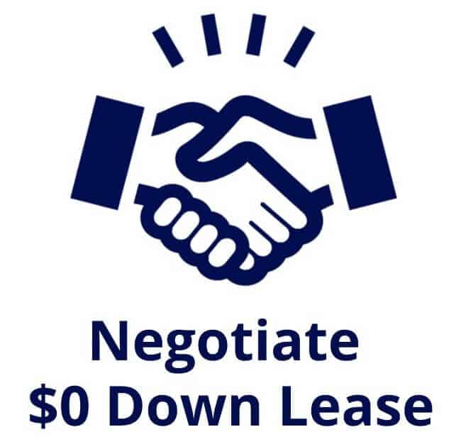 negotiate zero down lease