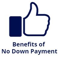 no down payment benefits