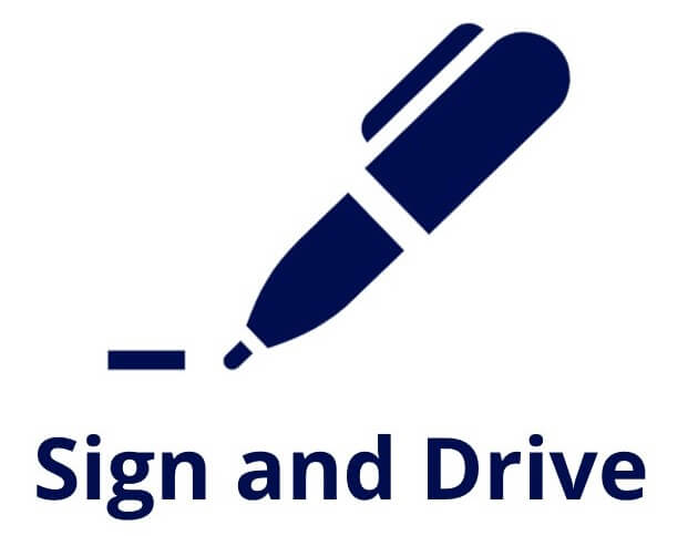 sign and drive