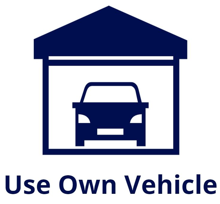 use own vehicle